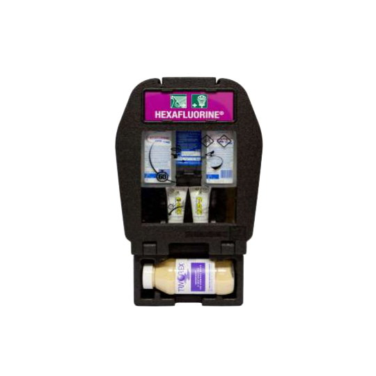 Wall Mounted Eye and Skin Wash System + TRIVOREX® Absorbent